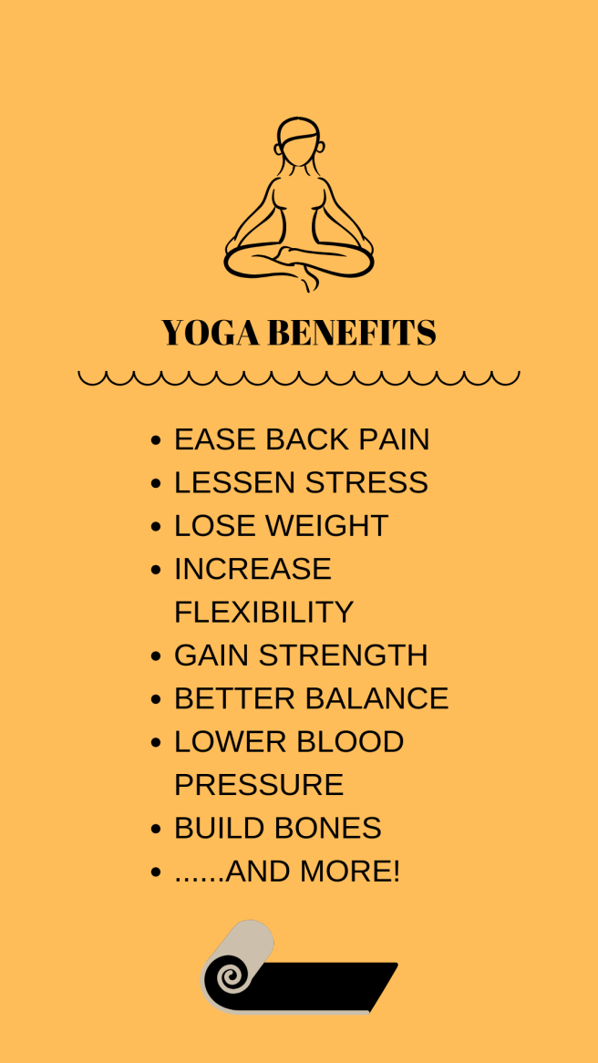 Ease back pain, lessen stress, lose weight, increase flexibility, gain strength, better balance, lower blood pressure, build bones and more. Regular practice of beginners yoga with help you with this and more than 100 other medical health conditions. Yoga with Gail 409-727-3177