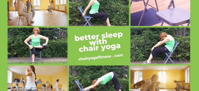Chair Yoga fitness for Better Sleep with Online Yoga Teacher, Gail P-B.